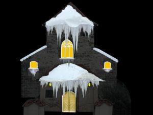 Sníh a rampouchy